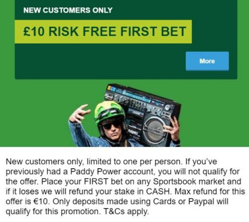 Paddy Power Free Bets