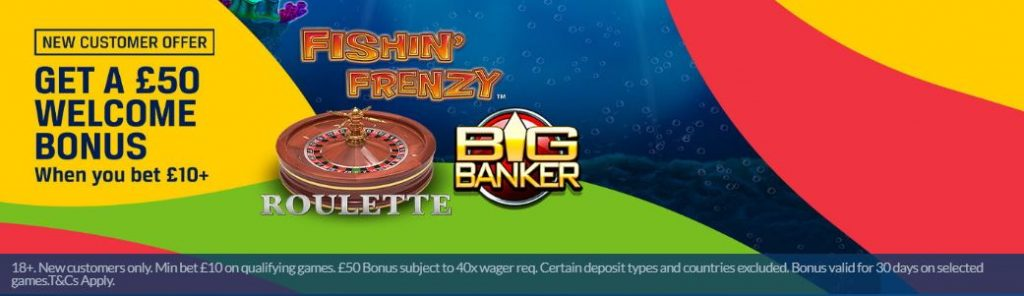 Casino welcome offer at Coral
