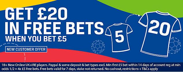 Sportsbook welcome offer at Coral