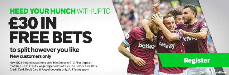 Welcome bonus at Betway