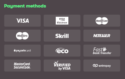 10bet Payment Methods