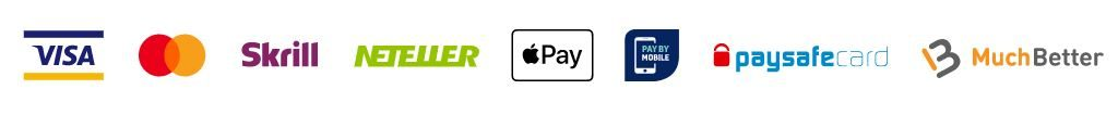 Payment Options available at Casumo