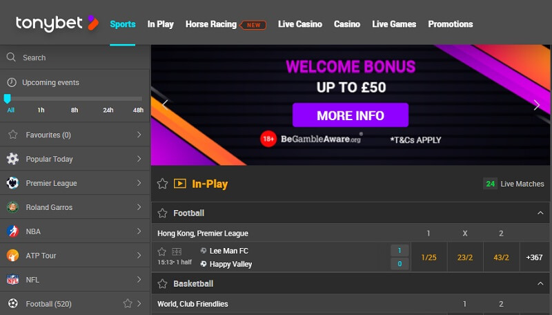 TonyBet Review 2020: All About TonyBet's Main Features